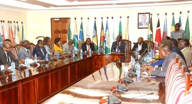 CoG CHAIR RECEIVES WESTERN REGION MPs IN HIS OFFICE