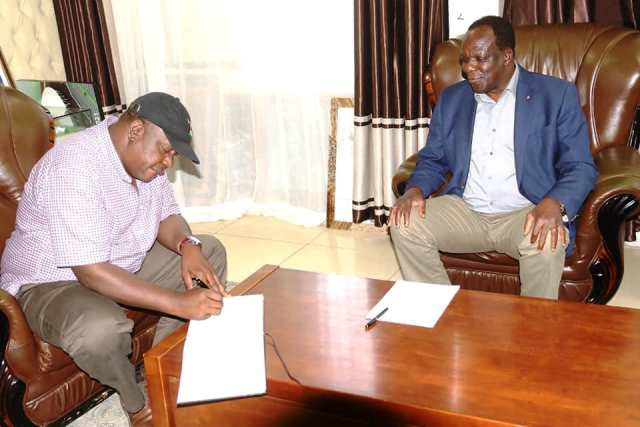 INTERIOR CABINET SECRETARY FRED MATIANG'I PAYS COURTESY CALL ON H.E. THE GOVERNOR