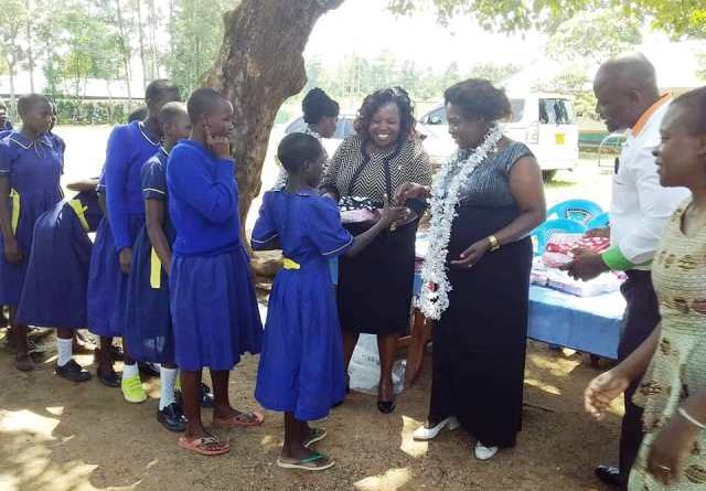FIRST LADY VISITS SCHOOLS IN EFFORTS TO SUPPORT EDUCATION FOR GIRL CHILD