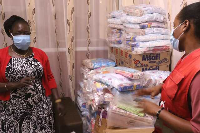 FIRST LADY RECEIVES DONATION IN SUPPORT OF MENSTRUAL HEALTH PROGRAMME