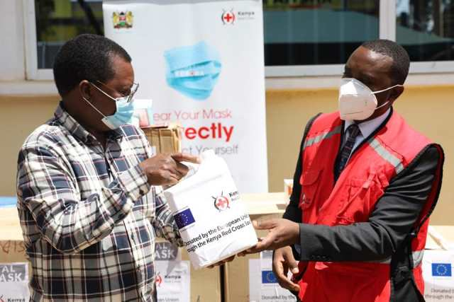 COUNTY RECEIVES PPEs FROM KENYA RED CROSS